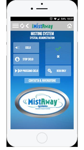 iMistAway ti permette di gestire il tuo impianto di nebulizzazione antizanzare