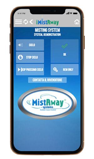 App disinfestazione zanzare iMistAway